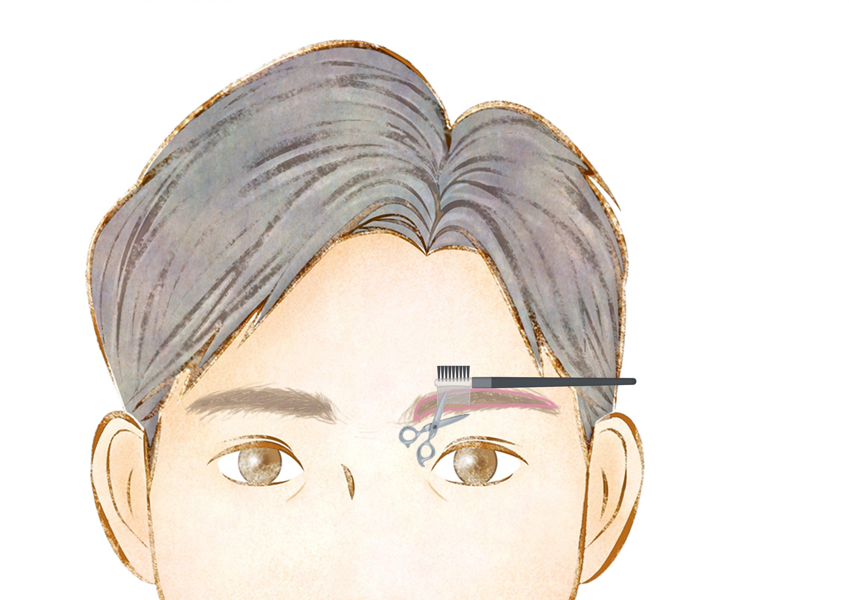 眉毛カット