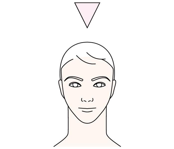 逆三角形眉毛