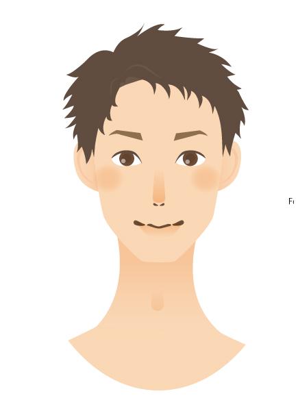 眉毛の幅が狭い